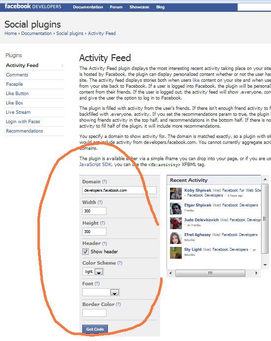 social plugin- facebook