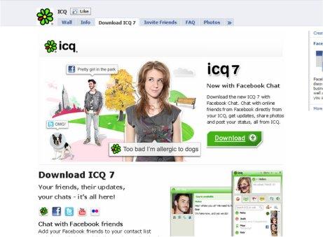ICQ פייסבוק