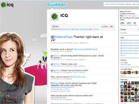 ICQ טוויטר