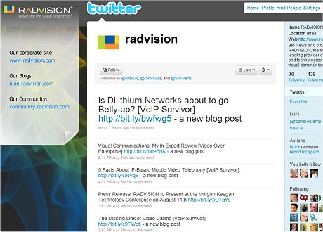 טוויטר radvision