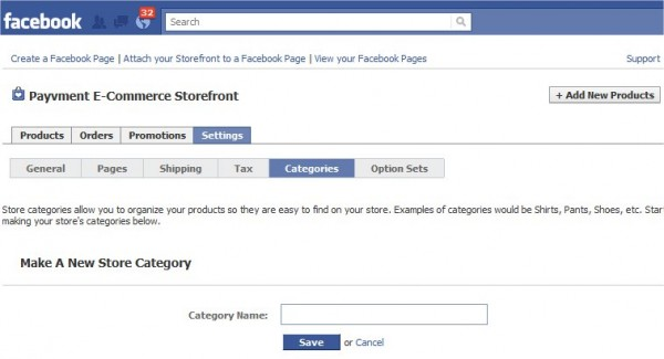 payvment facebook e-commerce